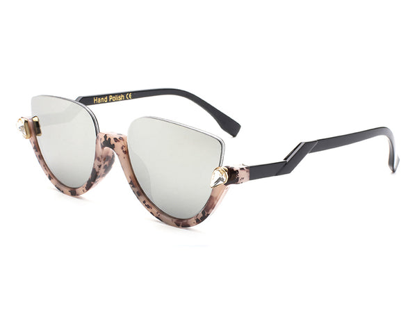 Half Rim Fashion Sunglasses