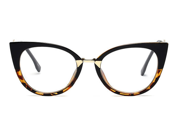 Solid Cat Eye Fashion Glasses