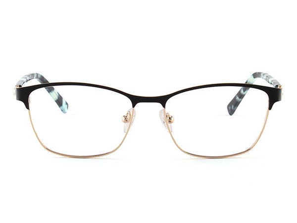 Metal Tortoise-Shell Square Glasses