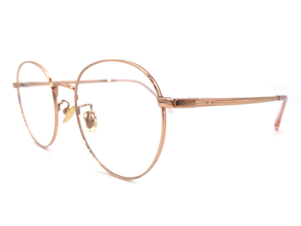 Titanium Rose Gold Round Glasses