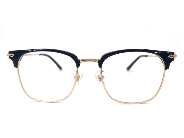 Titanium Rose Gold Square Glasses