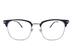 Titanium Silver Square Glasses