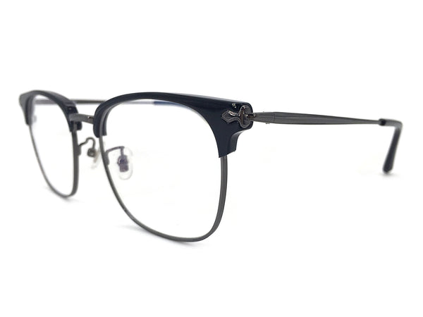 Titanium Black Square Glasses