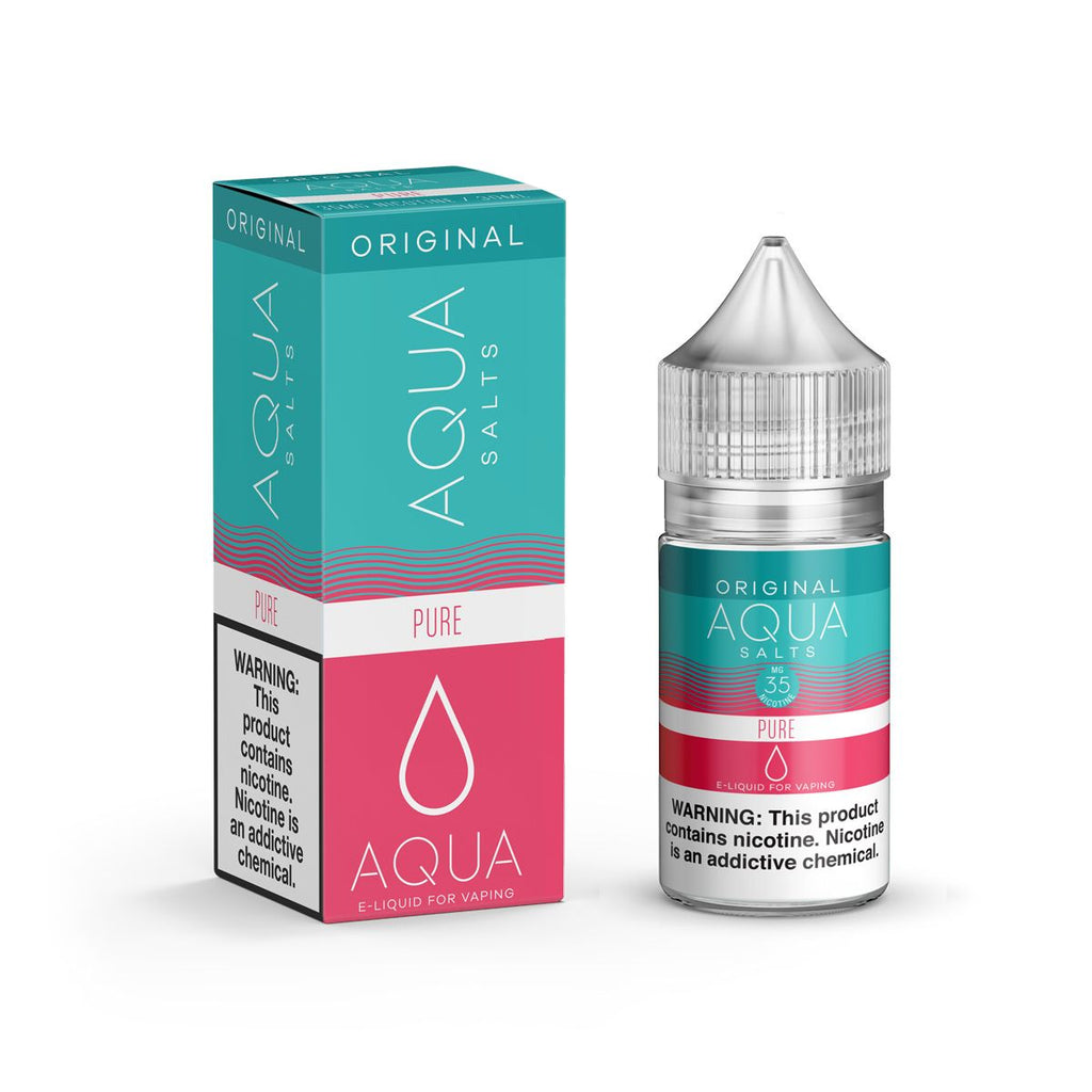 Aqua Salts Nicotine Salt E-Juice - 30ml - Pure