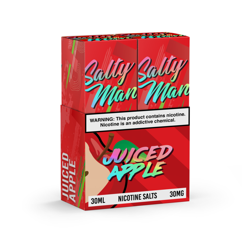 Salty Man Nicotine Salt E-Liquid Line - Juiced Apple (2 pack)