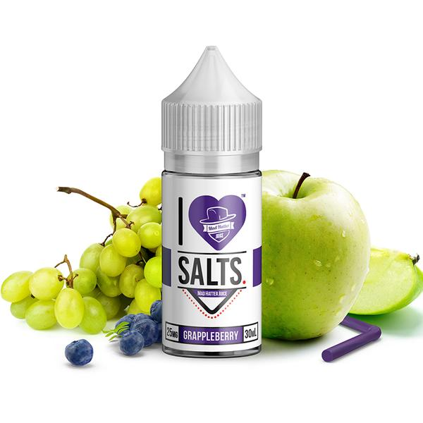 I Love Salts by Madhatter Nicotine Salt E-Liquid - 30ml - Grappleberry
