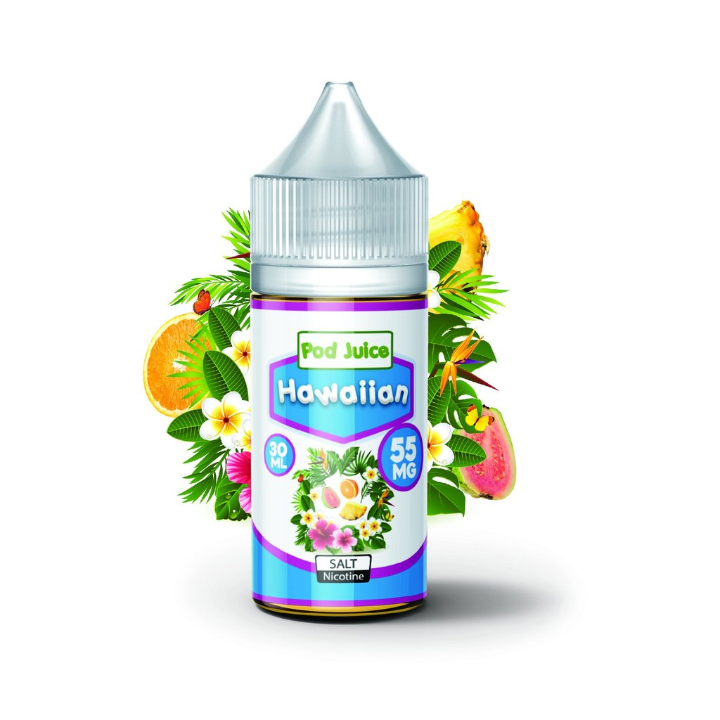Pod Juice Nicotine Salt E-Juice - 30ml - Hawaiian Pod