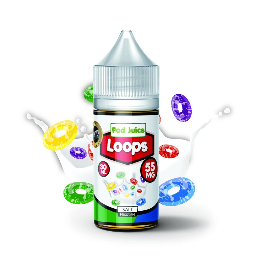 Pod Juice Nicotine Salt E-Juice - 30ml - Loops