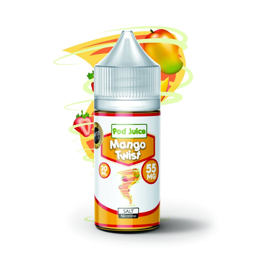 Pod Juice Nicotine Salt E-Juice - 30ml - Mango Twist