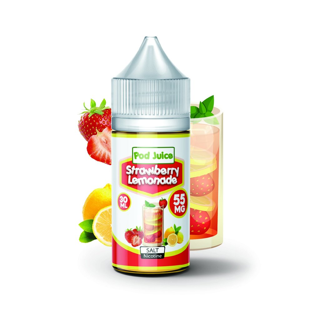 Pod Juice Nicotine Salt E-Juice - 30ml - Strawberry Lemonade