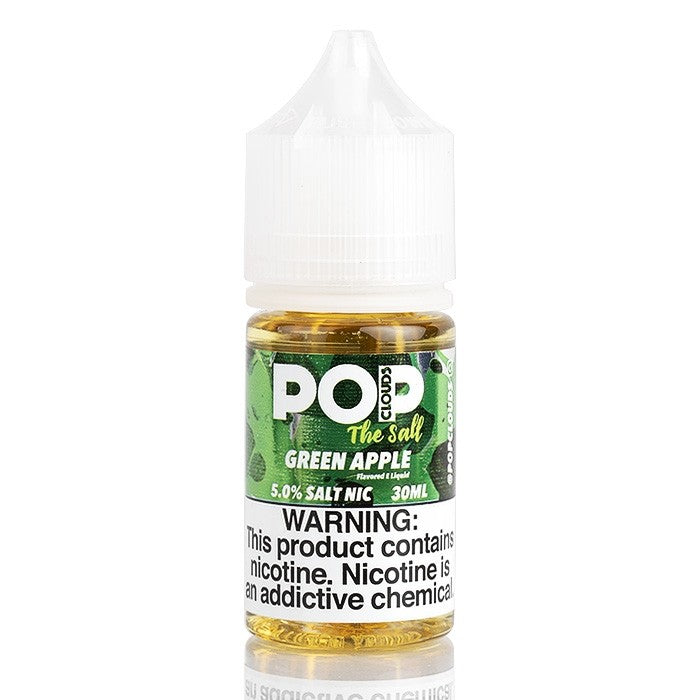 Pop Clouds the Salt Nicotine Salt E-Juice - 30ml - Green Apple
