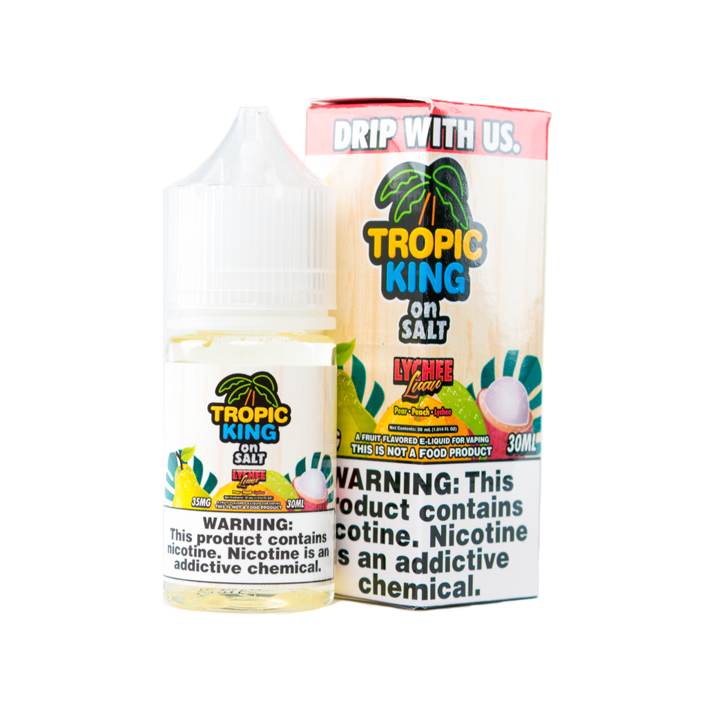 Tropic King by Drip More Nicotine Salt E-Juice - 30ml - Lychee Luau