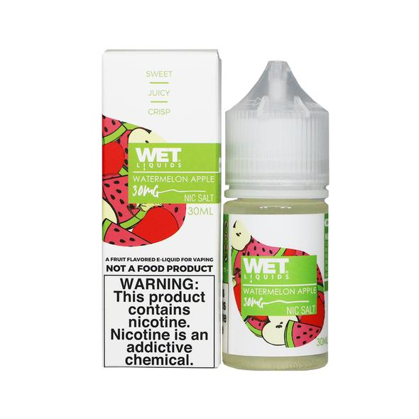 Wet Liquids Nicotine Salt - 30ml - Watermelon Apple
