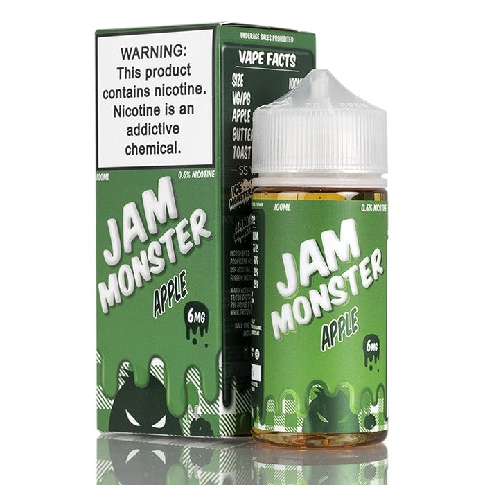 Jam Monster Nicotine E-Liquid - 100ml - Apple