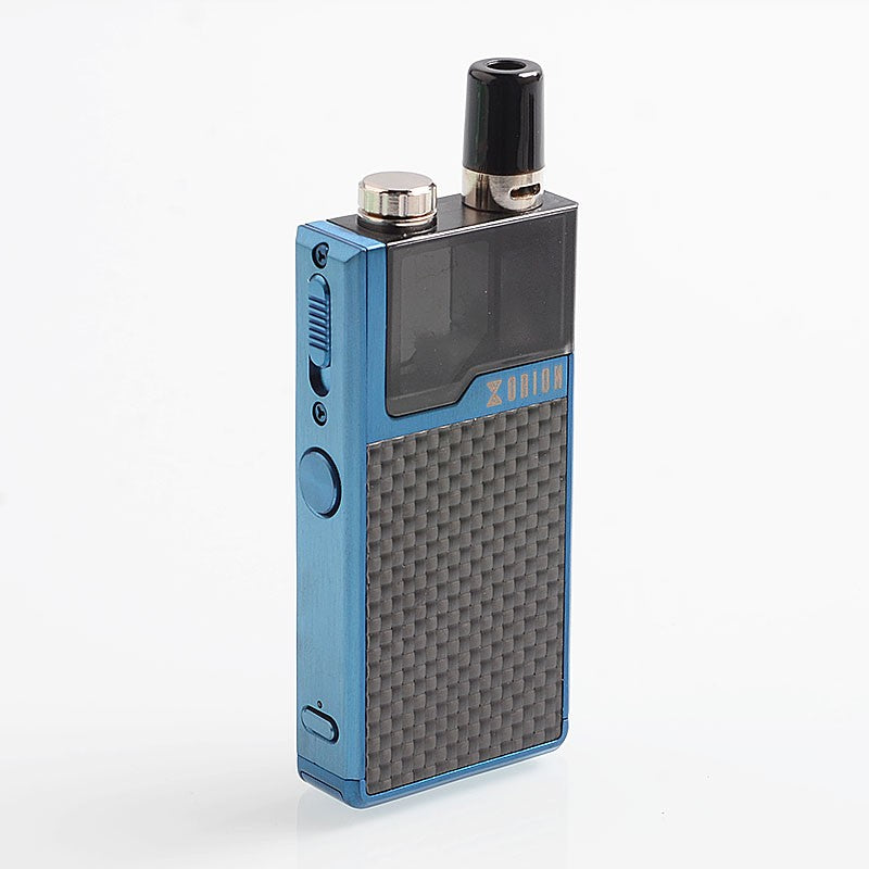 Blue Carbon Fiber Lost Vape Orion DNA Refillable Nicotine Salt Pod System