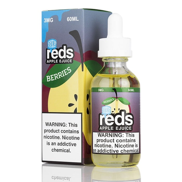7Daze Nicotine E-Liquid - 60ml - Berries Iced Red's Apple