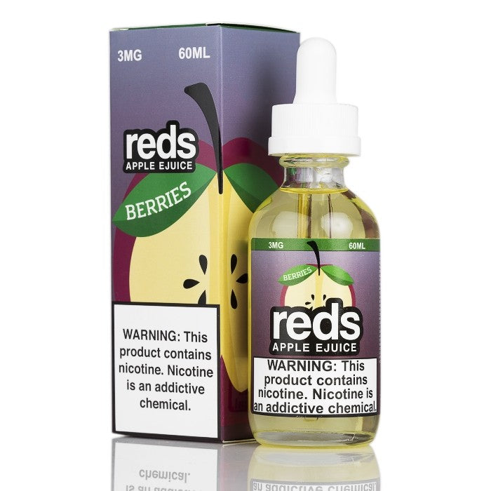 7Daze Nicotine E-Liquid - 60ml - Berries Red's Apple