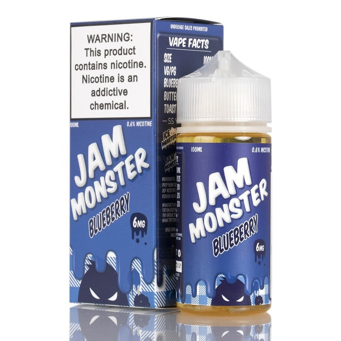 Jam Monster Nicotine E-Liquid - 100ml - Blueberry