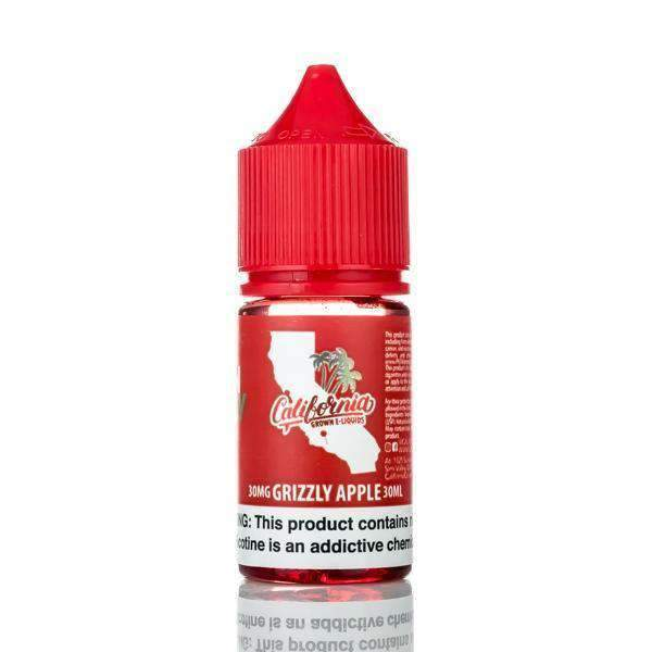 California Grown Nicotine Salts E-Juice - 30ml - Grizzly Apple