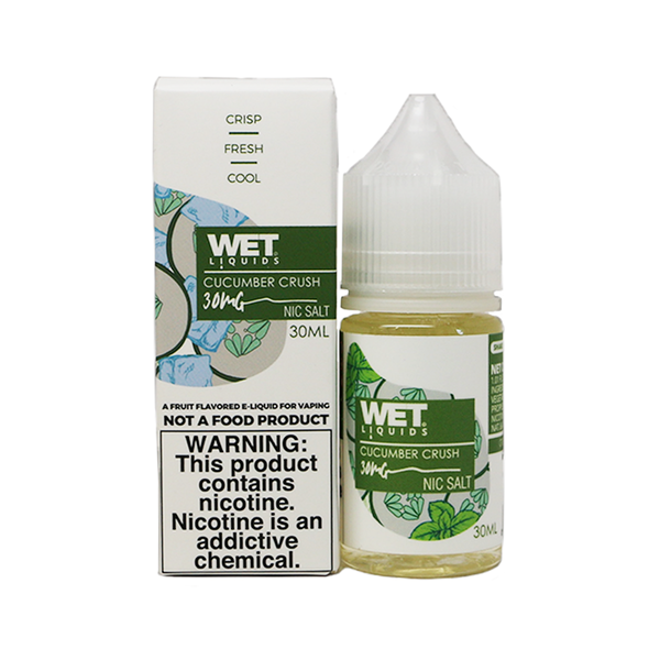 Wet Liquids Nicotine Salt - 30ml - Cucumber Crush
