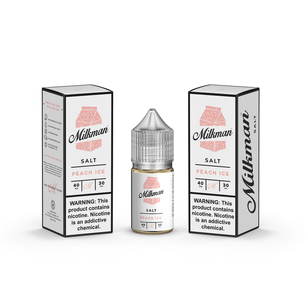 Milkman Nicotine Salt E-Juice - 30ml - Peach Ice