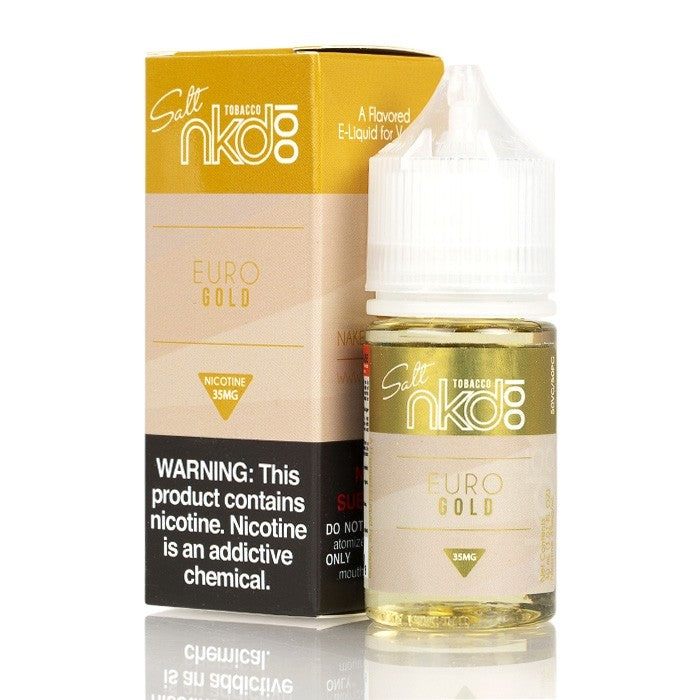 Naked 100 Nicotine Salt E-Juice - 30ml - Euro Gold