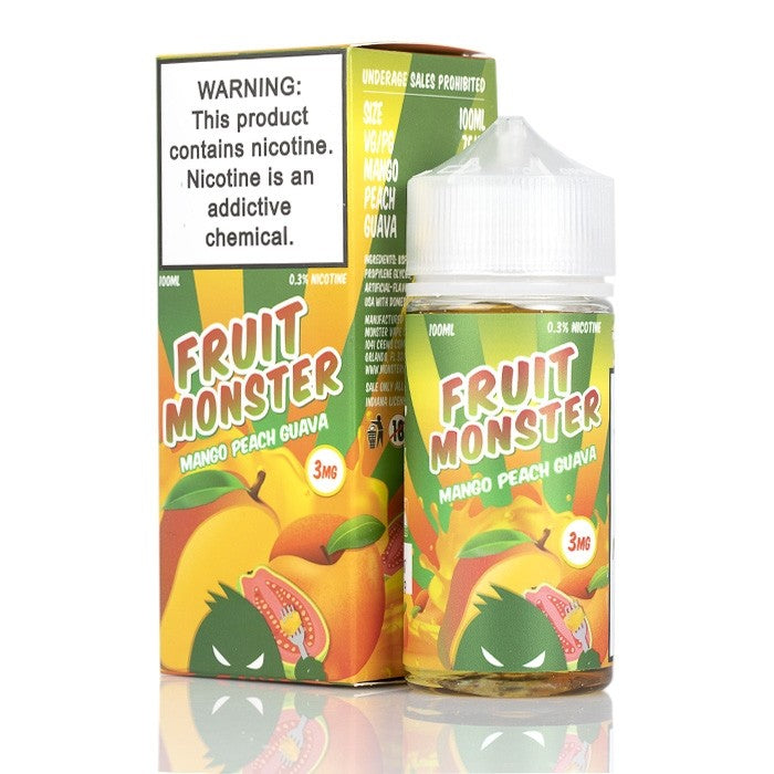 Fruit Monster Nicotine E-Liquid - 100ml - Mango Peach Guava