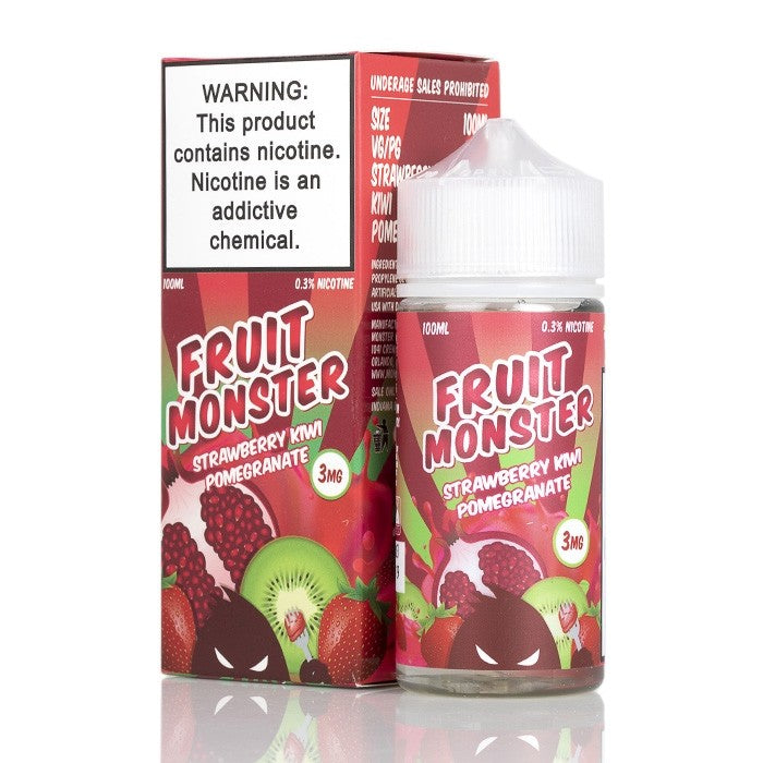Fruit Monster Nicotine E-Liquid - 100ml - Strawberry Kiwi Pomegranate