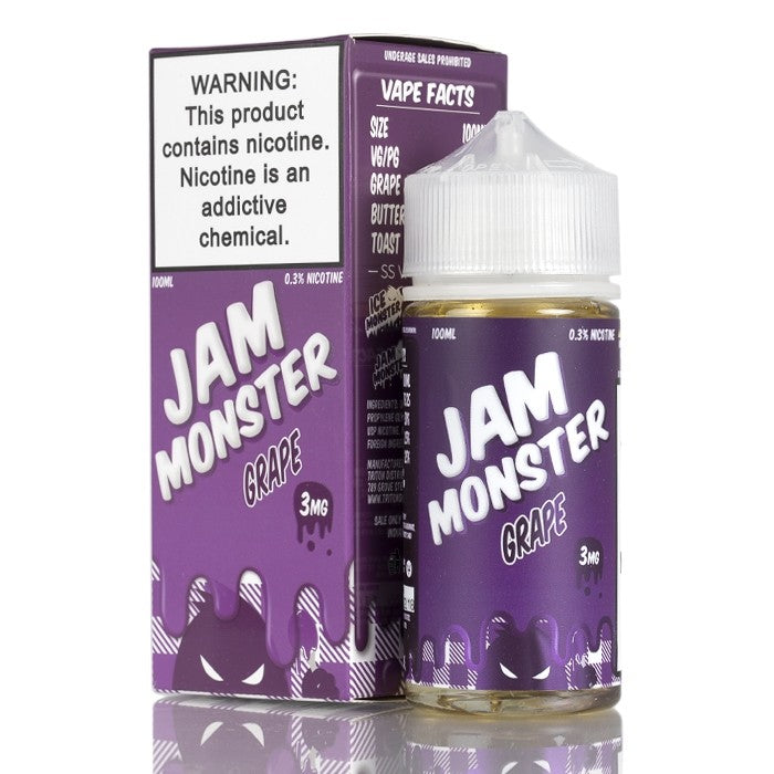 Jam Monster Nicotine E-Liquid - 100ml - Grape