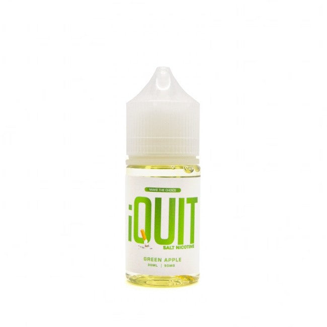 iQuit Salt Nic Nicotine Salt E-Juice - 30ml - Green Apple