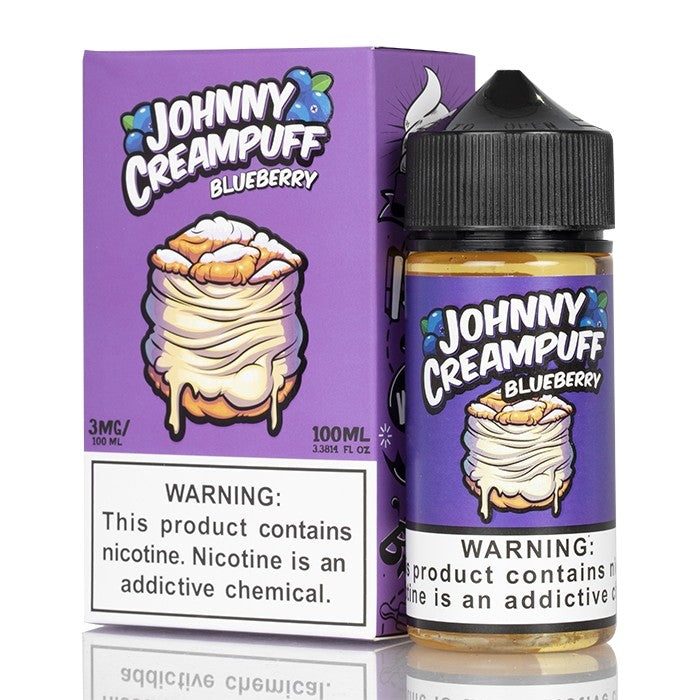 Johnny Creampuff Nicotine E-Juice - 100ml - Blueberry