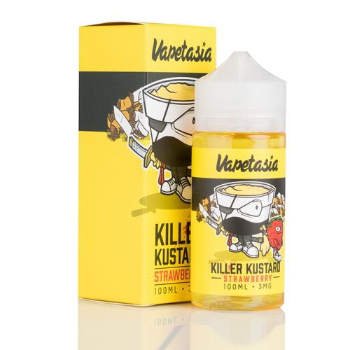 Vapetasia Nicotine - 100ml - Killer Kustard Strawberry