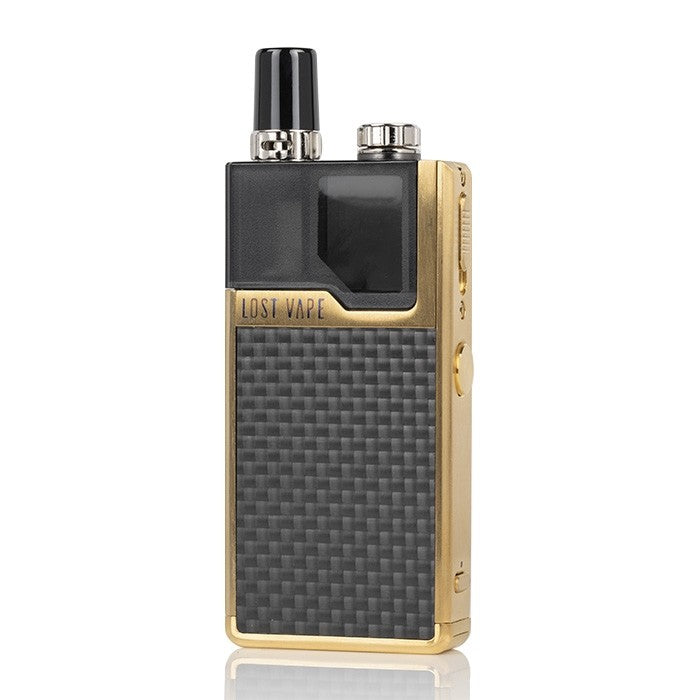 Gold Carbon Fiber Lost Vape Orion DNA Refillable Nicotine Salt Pod System