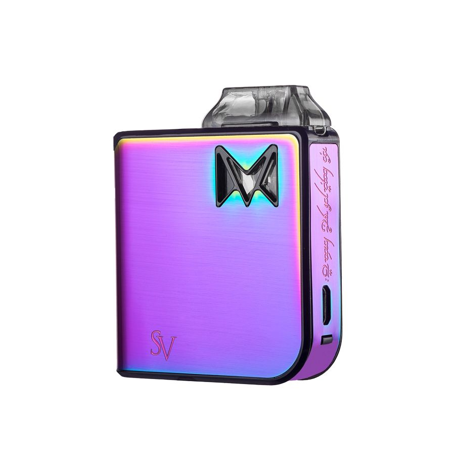Rainbow Metal Smoking Vapor Mi-Pod AIO Refillable Nictoine Salt Pod System