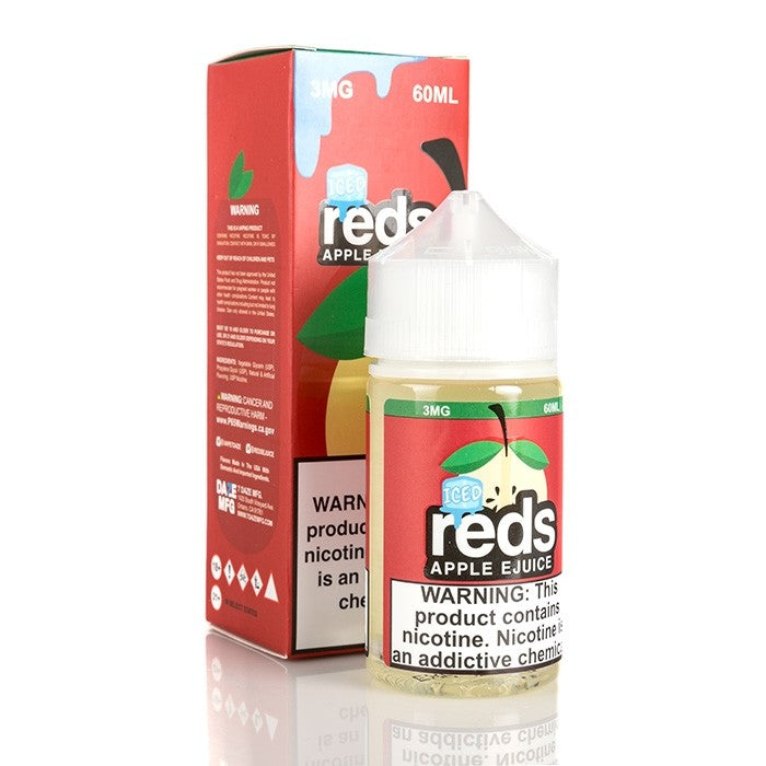 7Daze Nicotine E-Liquid - 60ml - Red's Apple ICED