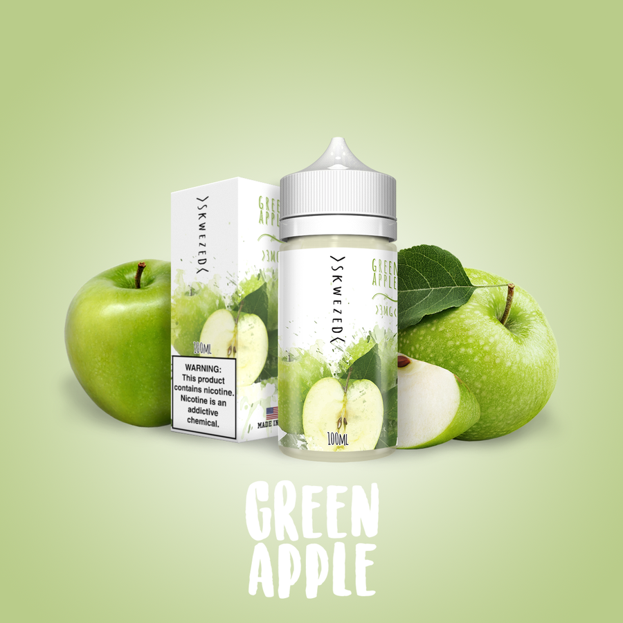 Skwezed Nicotine E-Juice - 100ml - Green Apple