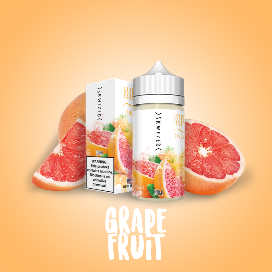 Skwezed Nicotine E-Juice - 100ml - Grapefruit