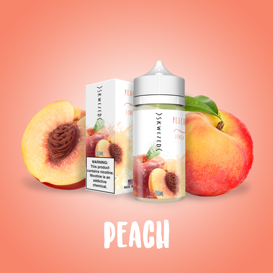 Skwezed Nicotine E-Juice - 100ml - Peach