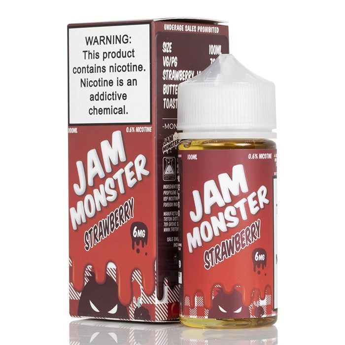Jam Monster Nicotine E-Liquid - 100ml - Strawberry