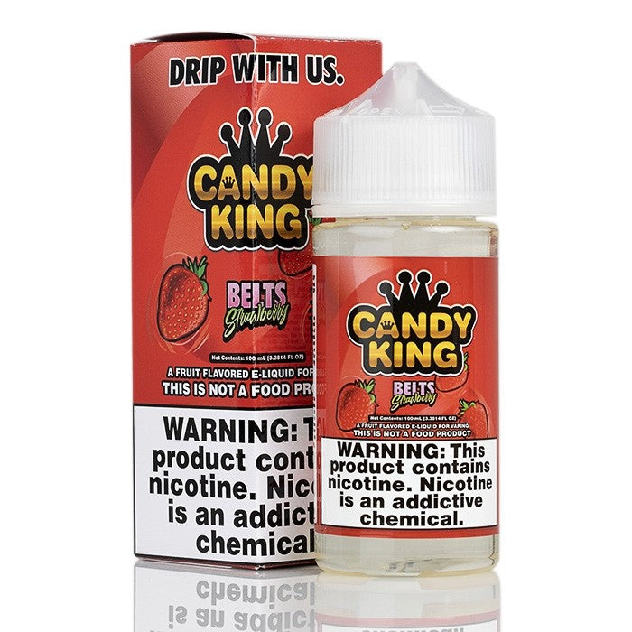 Candy King Nicotine E-Liquid - 100ml - Strawberry Belts