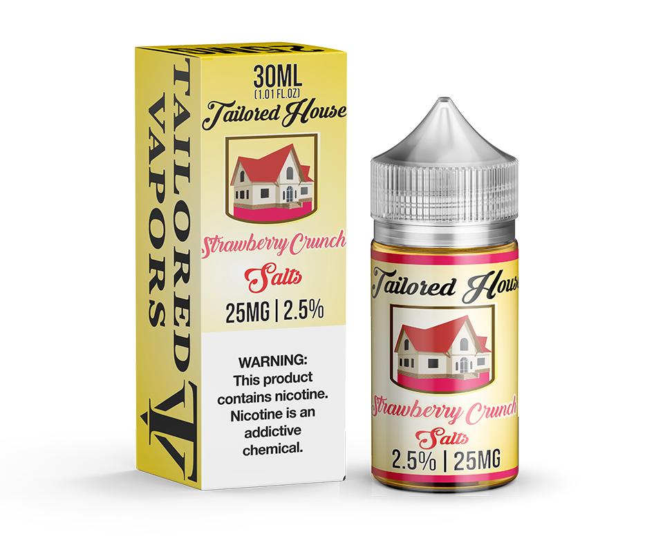 Tailored House Nicotine Salt E-Juice - 30ml - Strawberry Crunch