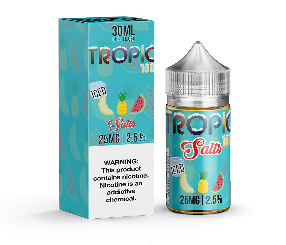 Tailored Vapors Nicotine Salt E-Juice - 30ml - Tropic 100 Iced