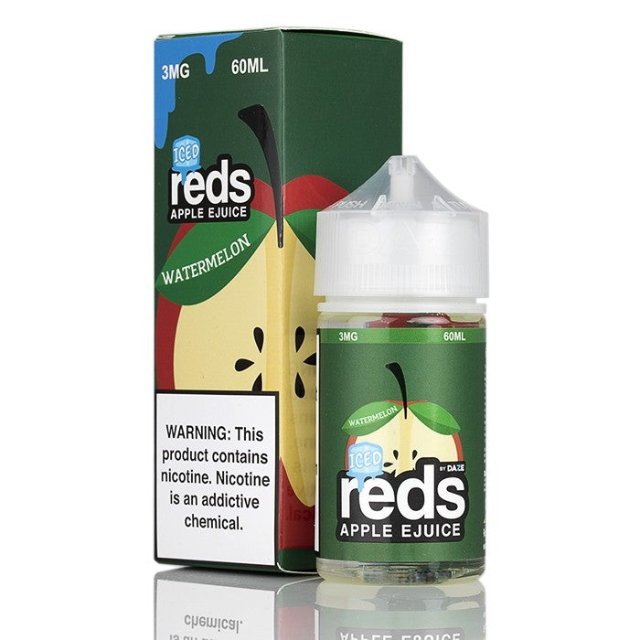 7Daze Nicotine E-Liquid - 60ml - Watermelon Iced Red's Apple