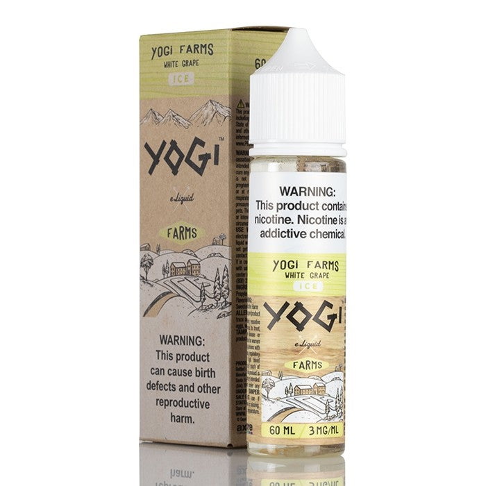 Yogi Farm E-Liquids Nicotine E-Juice - 60ml - White Grape on Ice