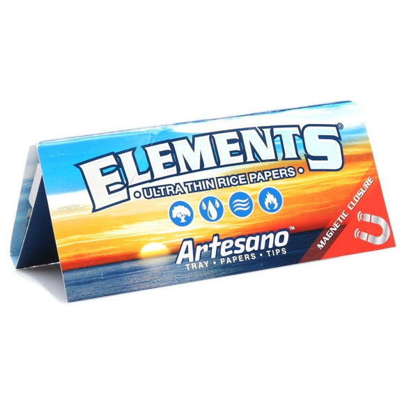 Elements Artesano - King Size Rolling Paper with Tray and Tips