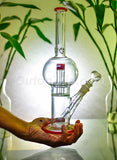 14 Inch Straight Tube Bulb Bong with UFO Percolator