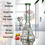8 Inch Slit Percolator Bong