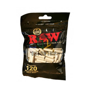 RAW Black XL Cotton Filter Tips - 120 Filter Tips