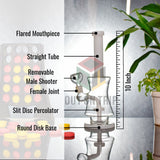 10 Inch Bong with Slit Percolator