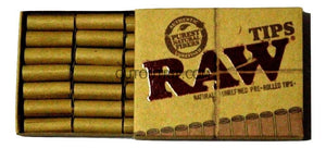 RAW PREROLLED ROLLING paper FILTER TIPS/ROACH